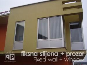 Profil d.o.o. Banja Luka Kombinacija fiksnih stijena i prozora